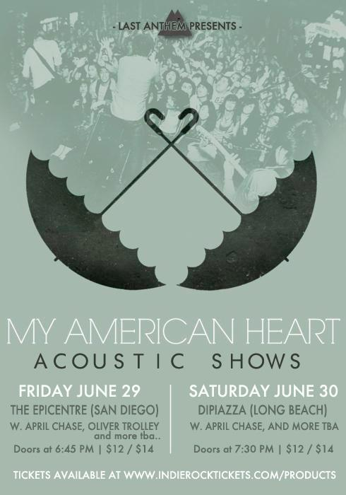 My American Heart Announces Acoustic shows